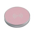 PU Leather Surface Qi Stand Wireless Charging Pad Transmitter