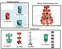 Hanging Plastic Stackable flower Pots / VERTICAL GARDEN POTS