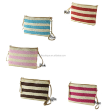 CFP B077 Stocked Corn Husk Beach Shoulder Straw Bag