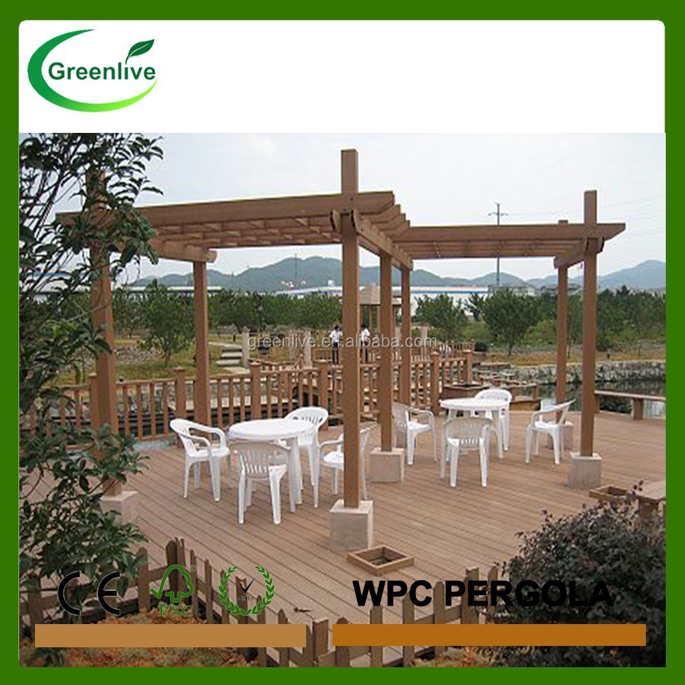 Cheap price wood pvc pergola/gazebo