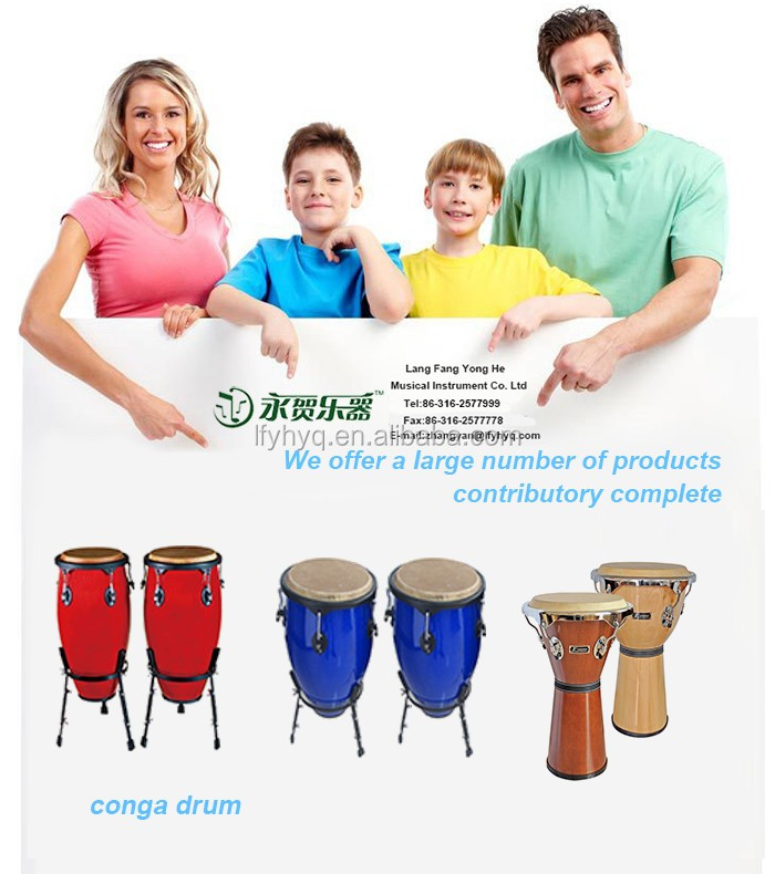 High quality wooden congas percussion music instruments for kids
