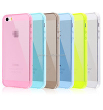 Ultra Thin Soft Transperant Silicone Gel Cover Rubber Case For iPhone 5