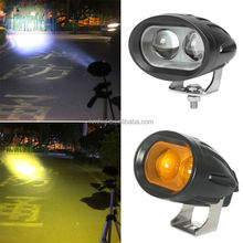 Amber 20W 4D Optica motorcycle spot light 4D LED motorcycle work light