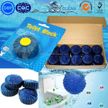 gold supplier solid blue bubble for clean toilet