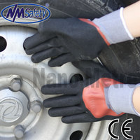 NMSAFETY double lining anti oil and liquid nitrile gloves
