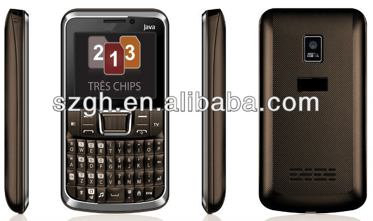 C333 triple sim card cell phone with Java