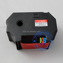 Uv fluorescent red ribbon ink cartridge for postal franking machine