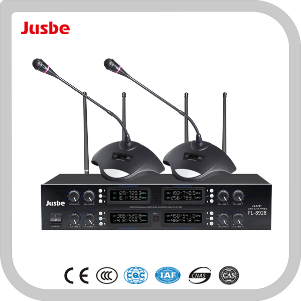 FL-8928 UHF PA System 8-way Meetting Room Professional Wireless Microphone for Conference System