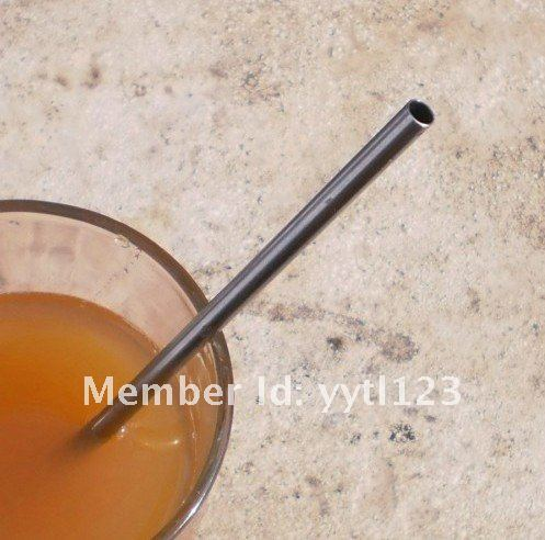 2015 Bulk Wholesale stainless steel straight straw wth cleaning brush