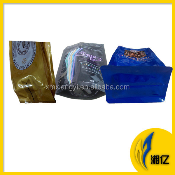 side gusset coffee bag with valve