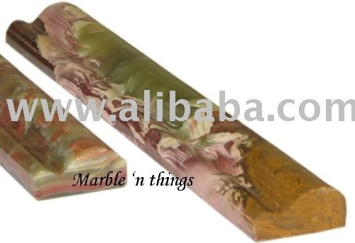 Green Onyx Molding, Onyx Molding, Onyx Double Ogee, Chair Rail, Marble & Onyx Molding, New York Onyx Molding, Border,Tiles, Slab