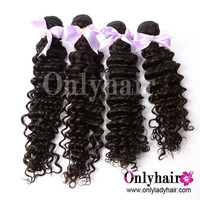 "Brazilian virgin human hair 7A top quality hair deep wave/curly 3pcs 18"" a lot ,can be dyed and ironed,DHL fast free shipping"