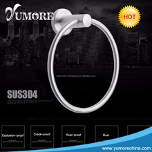 Custom stainless steel towel rings hotsale ring towel holder