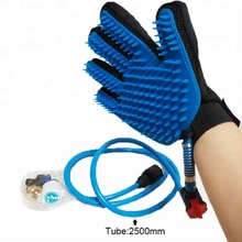 Pet bathing and grooming gloves Shower Sprayer Scrubber Massage brush bath pet bathing Massaging Glove for dog Cat Horse