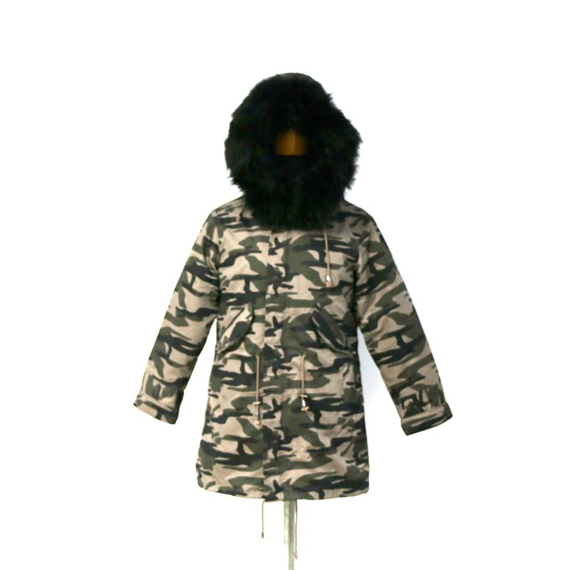 2017 New Style Long Detachable Big Fox Fur Hooded Parka Coat for Winter