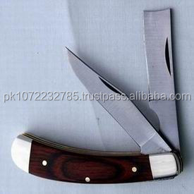 folding Pocket Stainless Steel Knife Double Blade