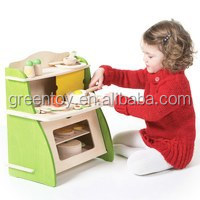 Mini wooden toys kitchen play set for kids