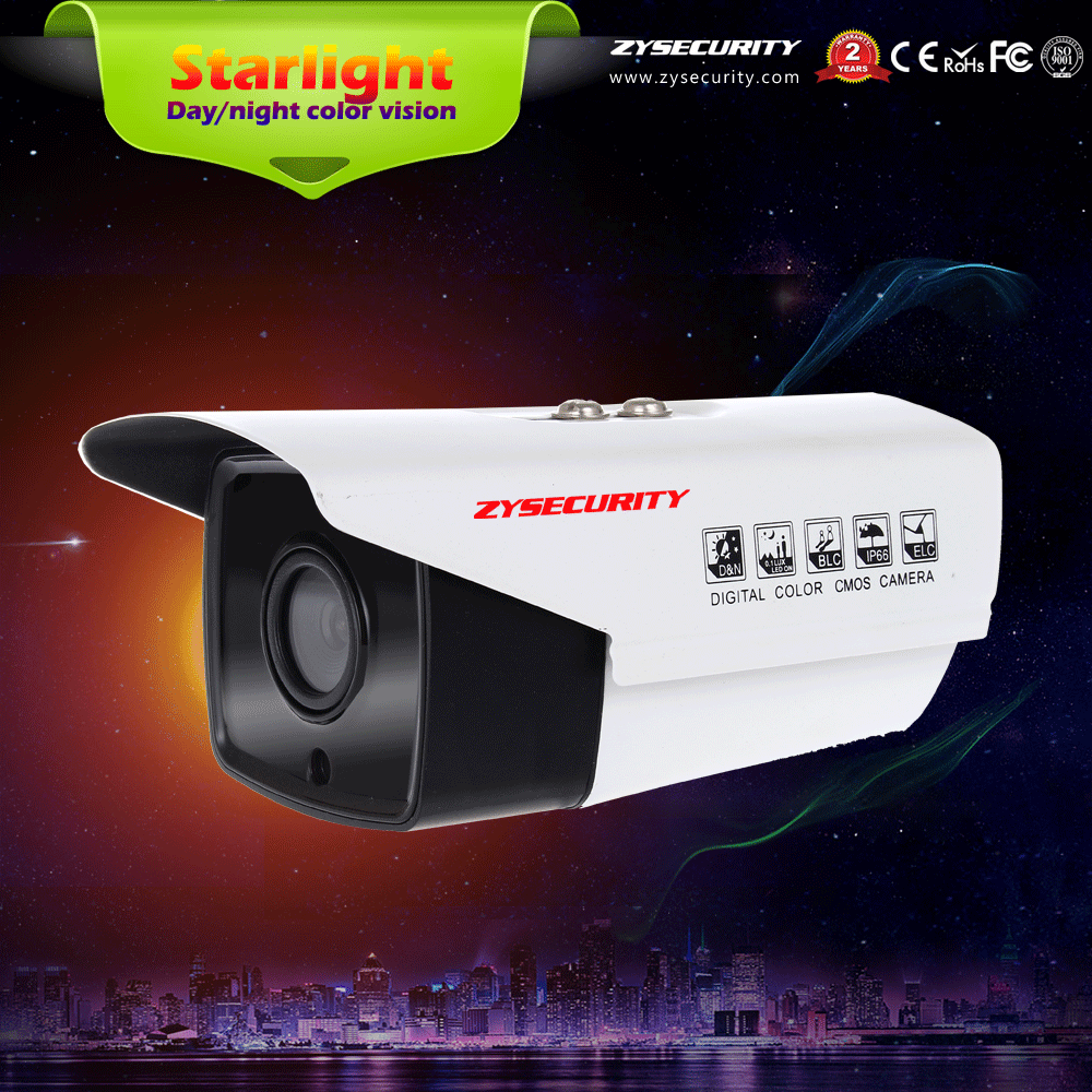 CCTV AHD CVI TVI CVBS 4in1 1080P starlight camera,IP66 waterproof Sony291 bullet night color vision Camera
