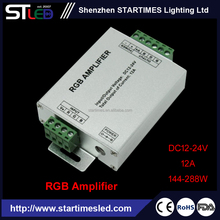Aluminum version PWM control led rgb amplifier/rgb led amplifier for SMD 5050/3528 RGB led strips