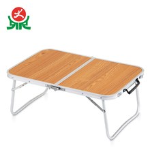 Simple desgin portable small folding laptop lap study table for bed