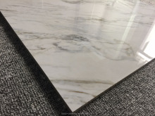 Factory direct sale Grade AAA 60*60cm White copy marble Glossy kitchen granite tile