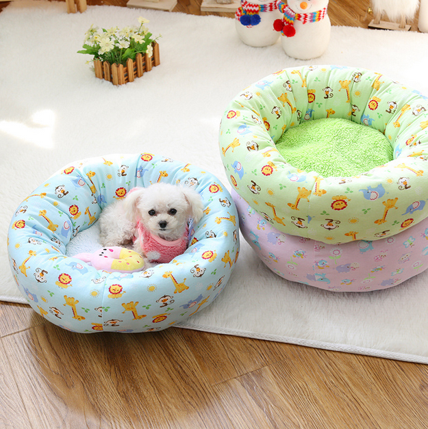 Cartoon Round Dog Bed Cheap Dog Bed Wholesale Cute Dog Bed Pet Products