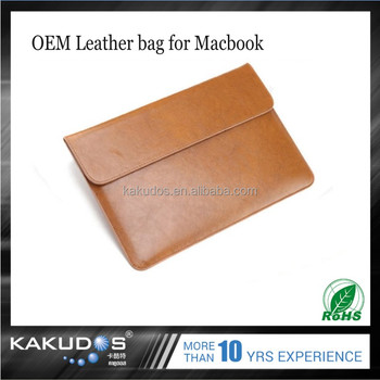 Waterproof soft leather top flip laptop cover for Macbook