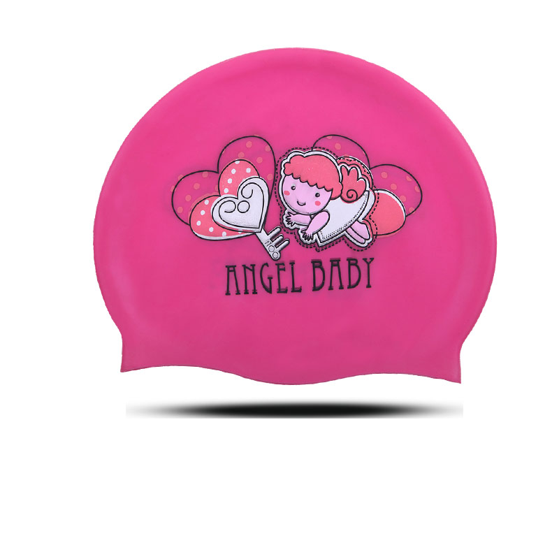 Cute Silicone Baby Boys Girls Kids Swimming Caps