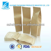 Eco-friendly laminated kraft paper rice bag for sale
