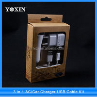 Micro USB Port Mobile Phone Travel Charger for Samsung Galaxy i9500 / i9300 /Note2 monile charger kit