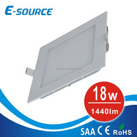 Hot sale square panel light 18W 6500k two years warranty