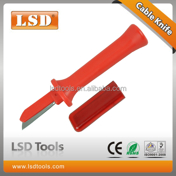 Ergonomically designed Cable Stripping Knife LS-54 Cable knife with fiexed straight blade