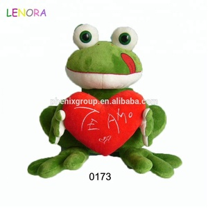Manufacturer wholesale new products hug heart frog plush toys love frog doll girl valentine's day gifts toy