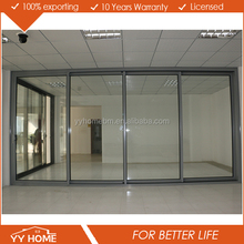 YY 4 panel double glass exterior aluminum sliding door for living room