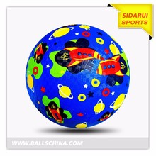 Hot sale Kids loved custom design and color rubber soccer ball
