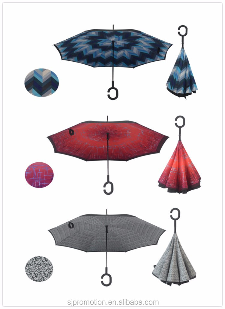 2016 china best selling cheap wholesale high quality inverted umbrella for car umbrella