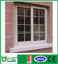 Security high quality window grills design for sliding windows with aluminium roller shutter