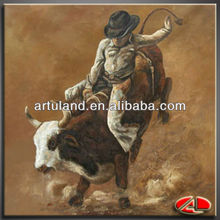 High quality impressionist horse oil painting/cowboy painting