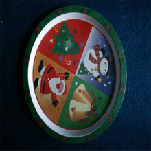 CMYK printing christmas melmaine plate , melamine dishes