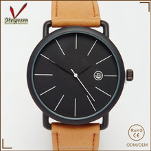 Wholesale classic casual watches for man vogue 2017 leather strap wristwatches