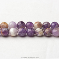 Hot selling natural amethyst CB37518 Multicolor Amethyst Faceted Round Beads