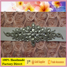 Pakistani applique designs party dress rhinestone applique patch for hats NRA130