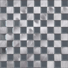 Cheap Aluminium mix Glass Mosaic Tile for backsplash