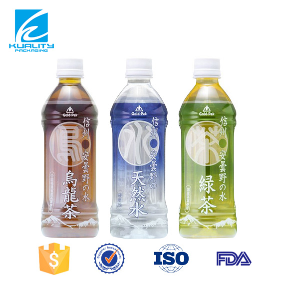 Custom design plastic pet shrink film for tea packaging