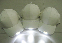 Wholesale 3d embroidery custom LED Lights Baseball Caps hats with Built-in LED Lights