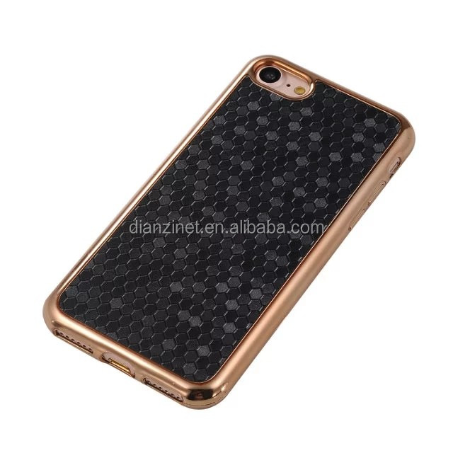 electroplated frame with soccer pattern phone case for iphone 7