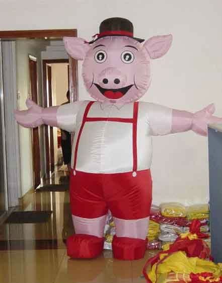 inflatable cartoon pig for advertisement&inflatable pig model