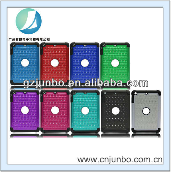 2014 fashion PC+silicon full stars mobile phone case for ipad 2/3/4