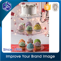 Three layers acrylic cupcake display stand, cupcake display case