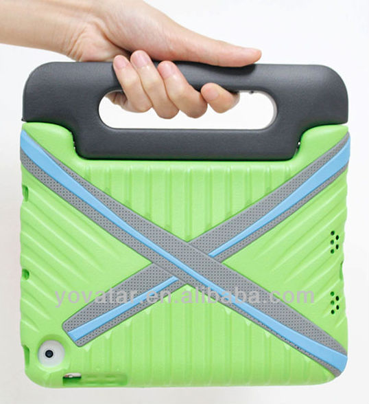 HOT SALE2013!!!Green/New Multi Function Shock Proof Kids EVA Cover Case with Stand / Handle for Apple iPad mini